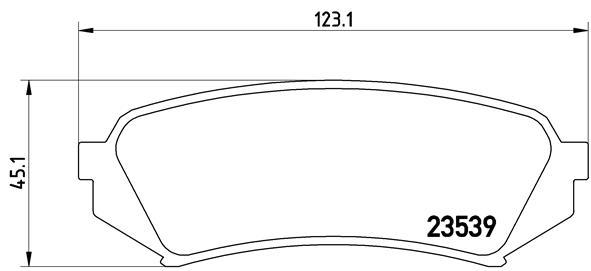 Kit de plaquettes de frein, frein à disque BREMBO P 83 049 (Jeu de 4)
