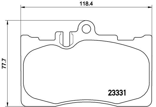 Plaquettes de frein BREMBO P 83 058 (Jeu de 4)