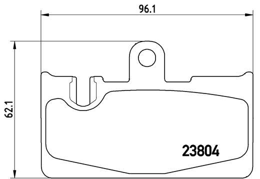 Kit de plaquettes de frein, frein à disque BREMBO P 83 059 (Jeu de 4)