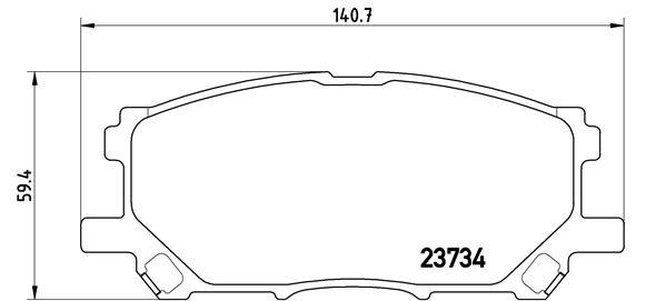 Plaquettes de frein BREMBO P 83 067 (Jeu de 4)