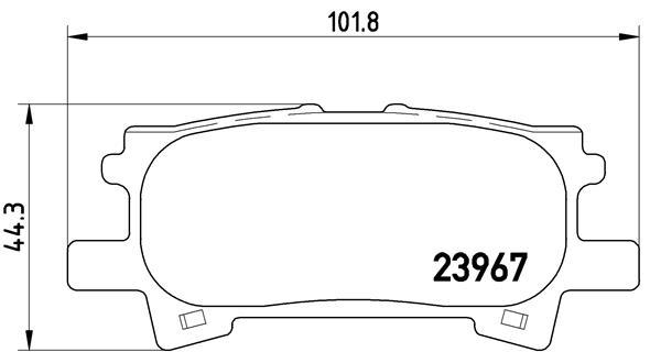 Kit de plaquettes de frein, frein à disque BREMBO P 83 068 (Jeu de 4)