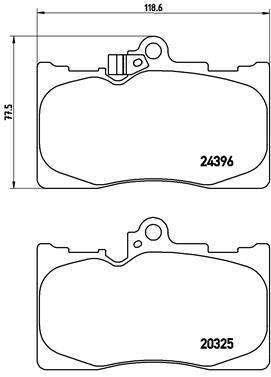Plaquettes de frein avant BREMBO P 83 072 (Jeu de 4)