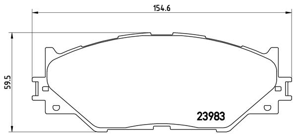 Plaquettes de frein avant BREMBO P 83 074 (Jeu de 4)