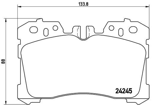 Plaquettes de frein avant BREMBO P 83 075 (Jeu de 4)