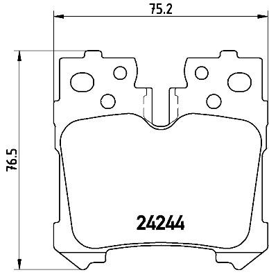 Kit de plaquettes de frein, frein à disque BREMBO P 83 076 (Jeu de 4)
