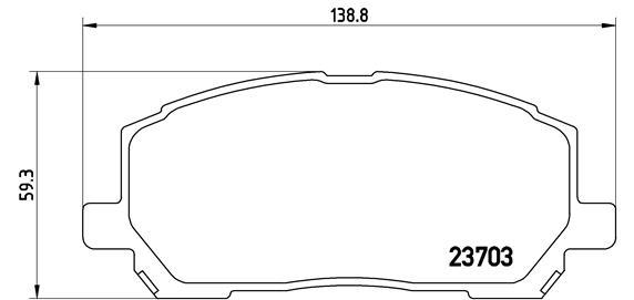Plaquettes de frein BREMBO P 83 078 (Jeu de 4)