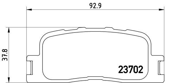 Kit de plaquettes de frein, frein à disque BREMBO P 83 088 (Jeu de 4)