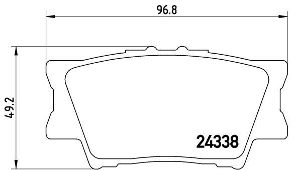 Kit de plaquettes de frein, frein à disque BREMBO P 83 089 (Jeu de 4)