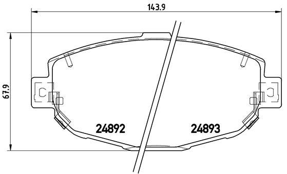 Plaquettes de frein avant BREMBO P 83 104 (Jeu de 4)