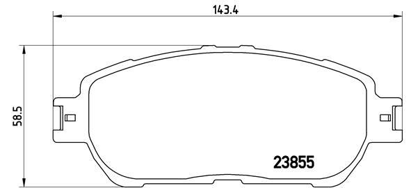 Plaquettes de frein avant BREMBO P 83 105 (Jeu de 4)