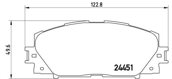 Plaquettes de frein avant BREMBO P 83 106 (Jeu de 4)