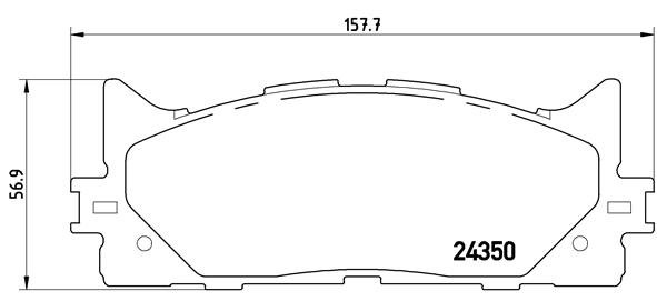 Plaquettes de frein BREMBO P 83 117 (Jeu de 4)