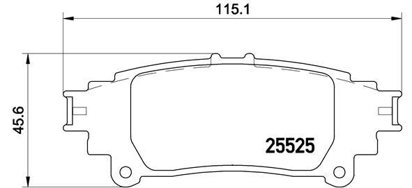 Kit de plaquettes de frein, frein à disque BREMBO P 83 132 (Jeu de 4)
