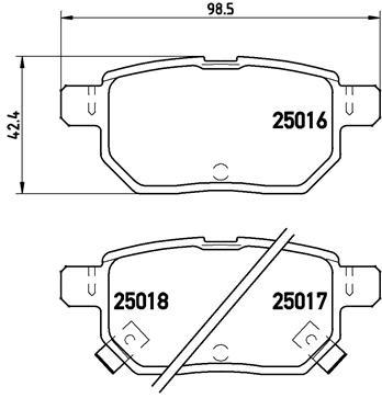 Kit de plaquettes de frein, frein à disque BREMBO P 83 133 (Jeu de 4)