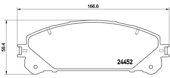 Plaquettes de frein avant BREMBO P 83 145 (Jeu de 4)