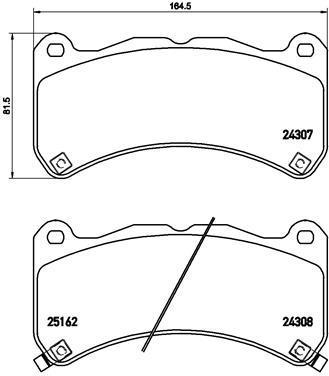 Plaquettes de frein avant BREMBO P 83 146 (Jeu de 4)