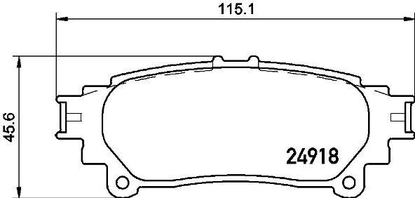 Plaquettes de frein BREMBO P 83 152 (Jeu de 4)
