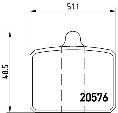 Plaquettes de frein avant BREMBO P 85 001 (Jeu de 4)