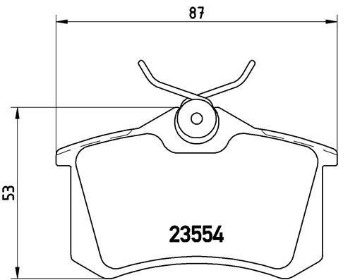 Plaquettes de frein BREMBO P 85 020X (Jeu de 4)