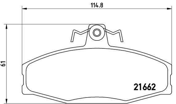 Plaquettes de frein avant BREMBO P 85 022 (Jeu de 4)