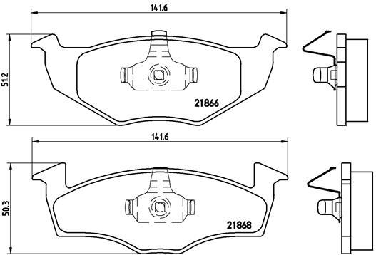 Plaquettes de frein avant BREMBO P 85 025 (Jeu de 4)