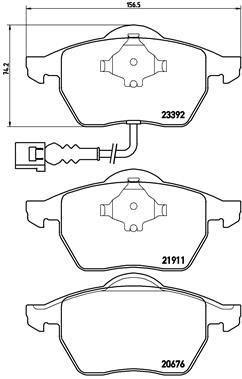 Plaquettes de frein avant BREMBO P 85 045 (Jeu de 4)
