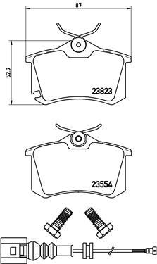 Plaquettes de frein arriere BREMBO P 85 066 (Jeu de 4)