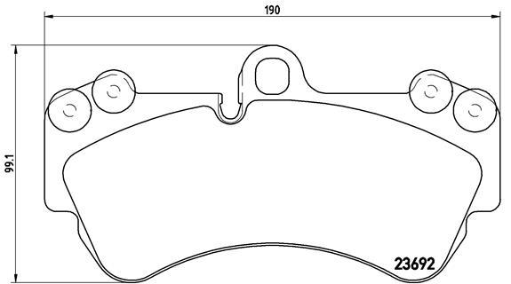 Plaquettes de frein avant BREMBO P 85 069 (Jeu de 4)