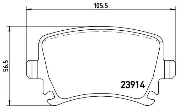 Plaquettes de frein arriere BREMBO P 85 073X (Jeu de 4)