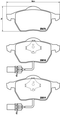 Plaquettes de frein avant BREMBO P 85 085X (Jeu de 4)