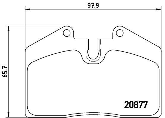 Plaquettes de frein BREMBO P 85 094 (Jeu de 4)
