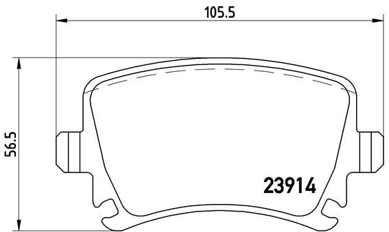 Plaquettes de frein arriere BREMBO P 85 095 (Jeu de 4)