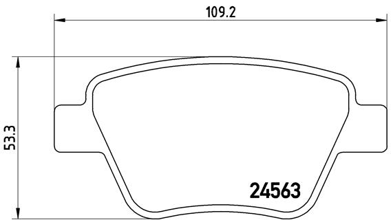 Plaquettes de frein BREMBO P 85 114X (Jeu de 4)