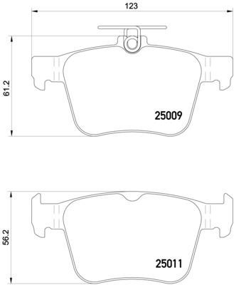 Plaquettes de frein BREMBO P 85 124X (Jeu de 4)
