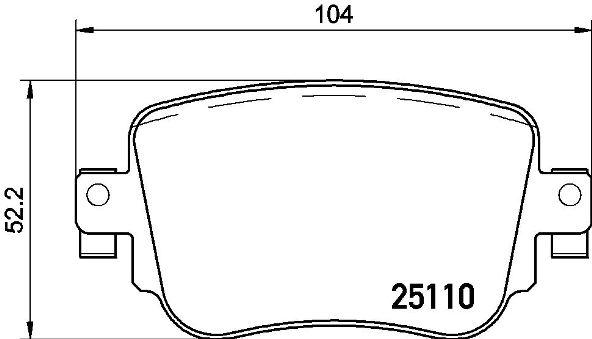Plaquettes de frein arriere BREMBO P 85 135 (Jeu de 4)