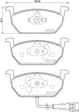 Plaquettes de frein avant BREMBO P 85 137 (Jeu de 4)