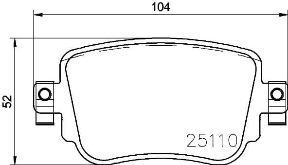 Plaquettes de frein arriere BREMBO P 85 140 (Jeu de 4)