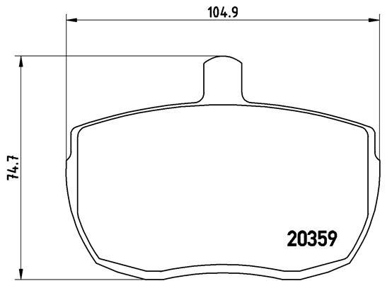 Plaquettes de frein avant BREMBO P A6 001 (Jeu de 4)