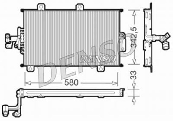 Condenseur / Radiateur de climatisation DENSO DCN09140 (X1)