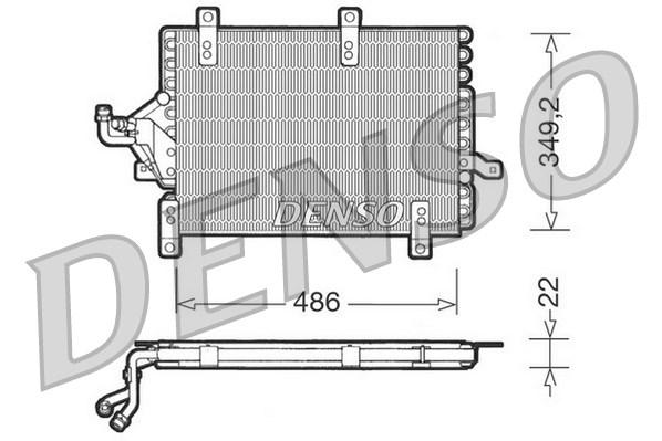 Condenseur / Radiateur de climatisation DENSO DCN09141 (X1)