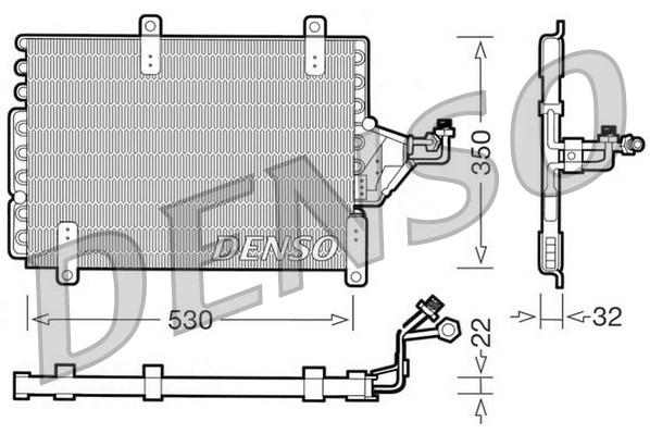 Condenseur / Radiateur de climatisation DENSO DCN09143 (X1)