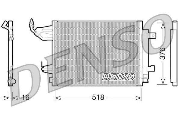 Condenseur / Radiateur de climatisation DENSO DCN16001 (X1)