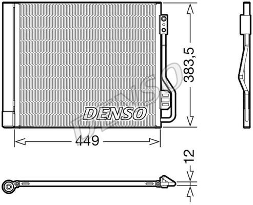 Condenseur / Radiateur de climatisation DENSO DCN16002 (X1)
