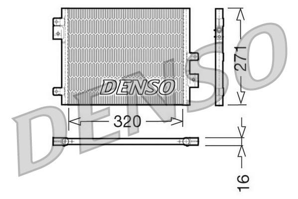 Condenseur / Radiateur de climatisation DENSO DCN28002 (X1)