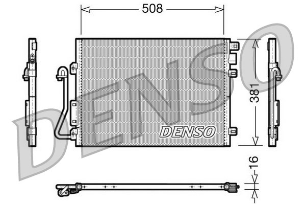 Condenseur / Radiateur de climatisation DENSO DCN37001 (X1)