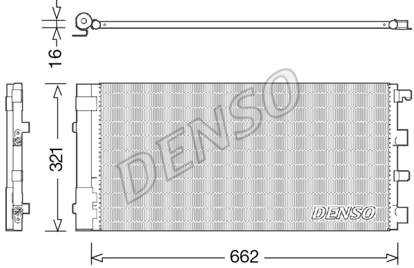 Condenseur / Radiateur de climatisation DENSO DCN37002 (X1)