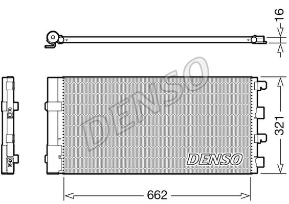 Condenseur / Radiateur de climatisation DENSO DCN37003 (X1)