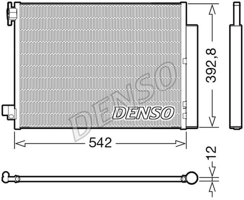 Condenseur / Radiateur de climatisation DENSO DCN37004 (X1)