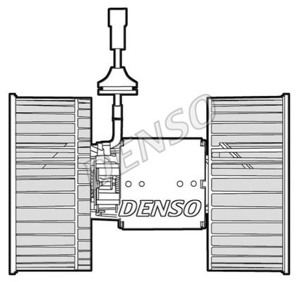 Chauffage et climatisation DENSO DEA12001 (X1)