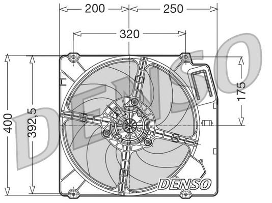 Ventilateur de radiateur DENSO DER01003 (X1)